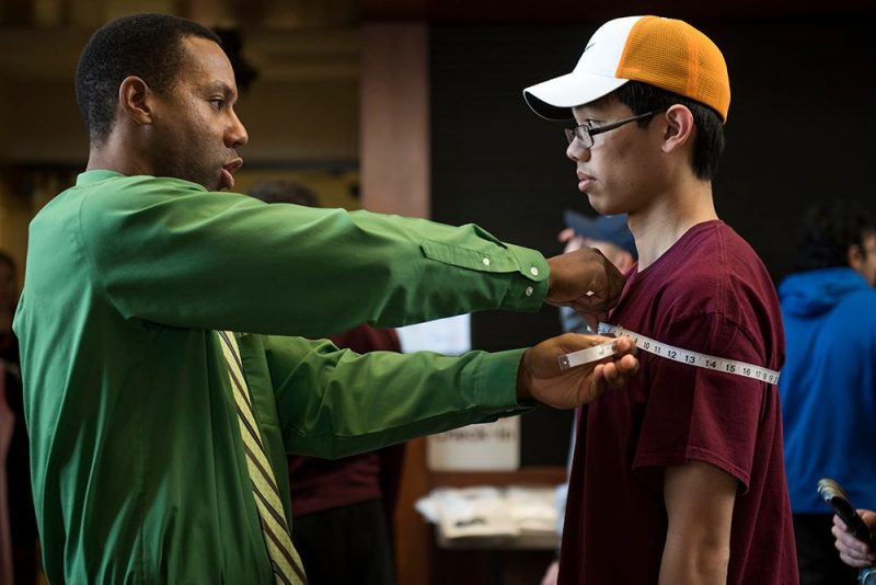 Virginia Tech Career Services employee helping a student