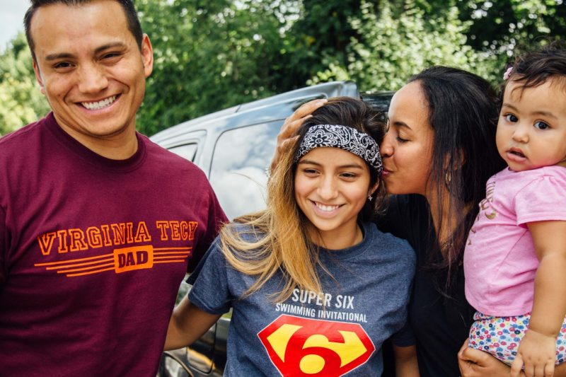 A Virginia Tech student and her family